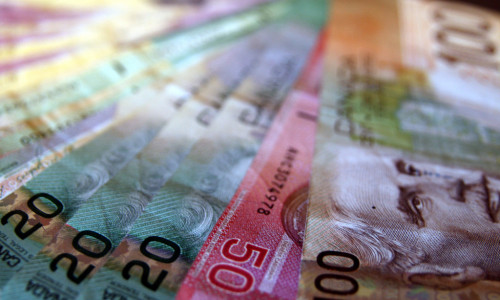 Canadian money by Sara Long